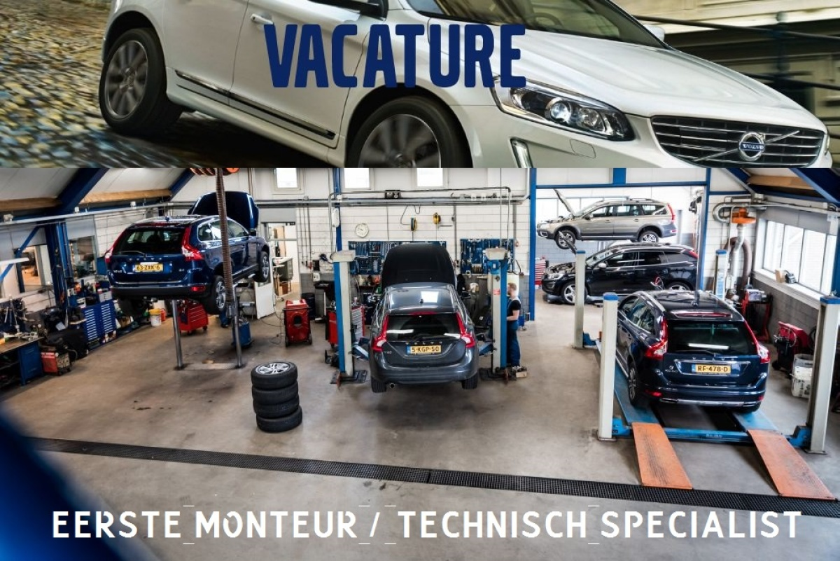 Vacature - Eerste monteur / technisch specialist